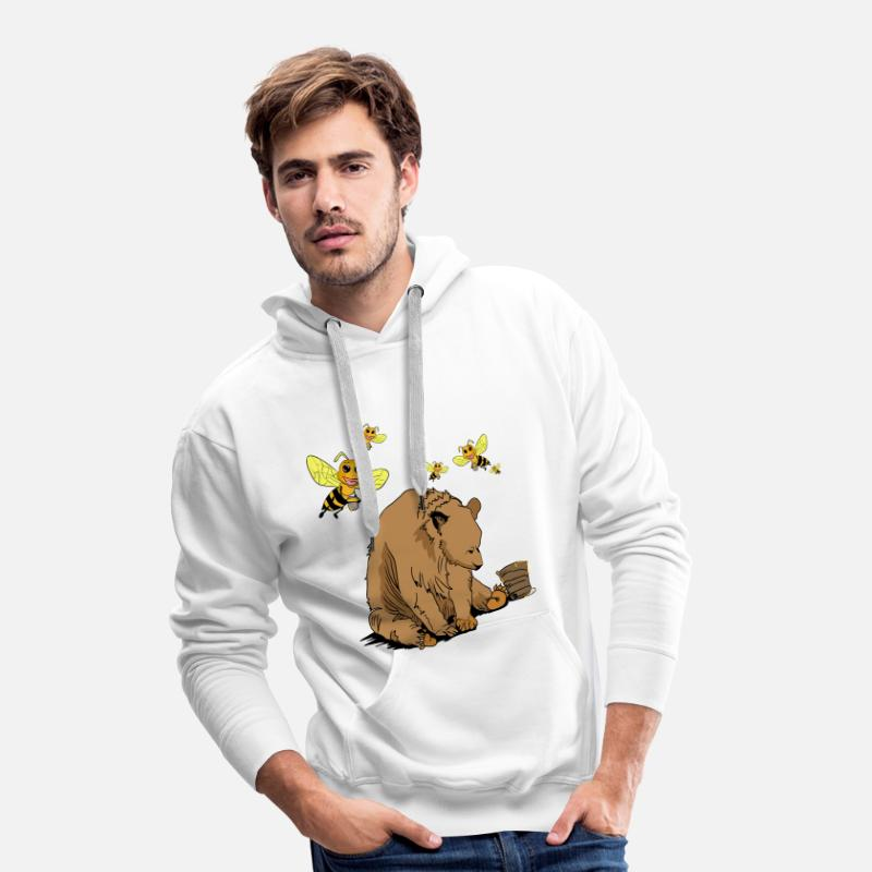 Dearadh Bronntanais Ours Bronntanais Agus Beacha Sweat shirt à capuche Premium pour hommes blanc
