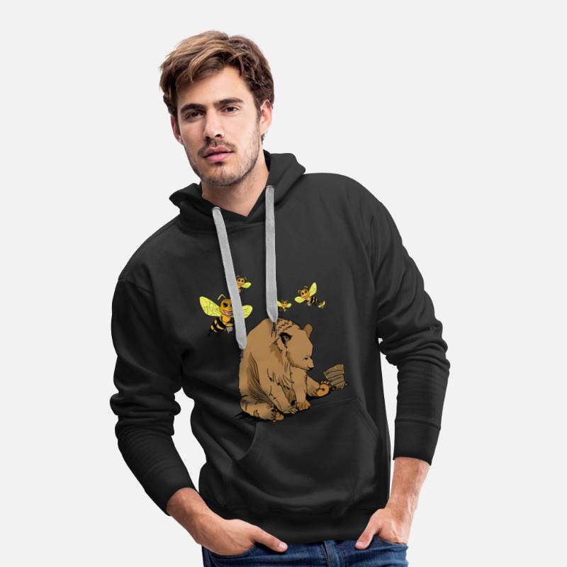 Dearadh Bronntanais Ours Bronntanais Agus Beacha Sweat shirt à capuche Premium pour hommes noir
