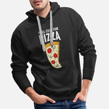 Start Will Code For Pizza - Funny Programmer Slogan - Männer Premium Hoodie
