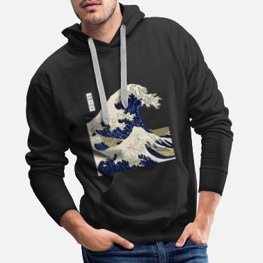 Vague Kanagawa vague Japon - Sweat à capuche premium Homme