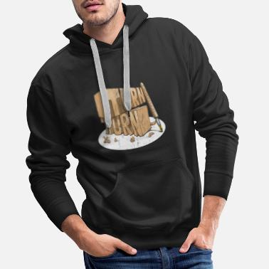 Turn Turn, Turn, Turn Funny Pen turning design - Men's Premium Hoodie