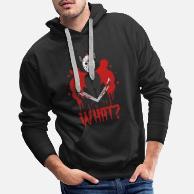 Cat horror blood Halloween - Men's Premium Hoodie