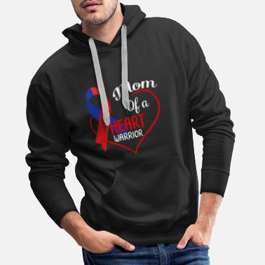 Bypass Mom Of A Heart Warrior CHD Awareness Heart Bypass - Premium bluza męska z kapturem