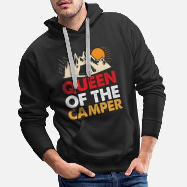 Pad Queen of the camper - bear, camper, tent - Men's Premium Hoodie