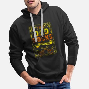 Papaw Rock and Roll 1969 dad and father 50th birthday - Men's Premium Hoodie