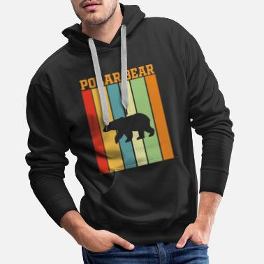 Veganism Polar bear retro play of colors - Men's Premium Hoodie