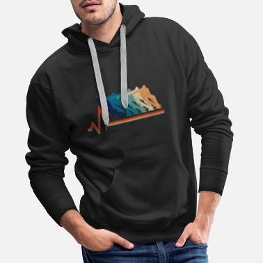 Vintage runner does tricks in a heartbeat - Men's Premium Hoodie