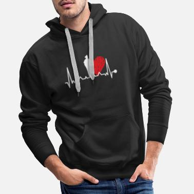 Heartbeat police police officer - Men's Premium Hoodie