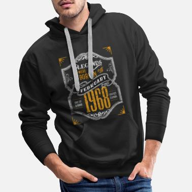 Little Sister Legends Were Born in February 1968 Awesome - Men's Premium Hoodie