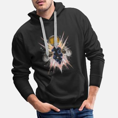 Milky Way Space Light - Astronaut Opens Other Dimension - Men's Premium Hoodie