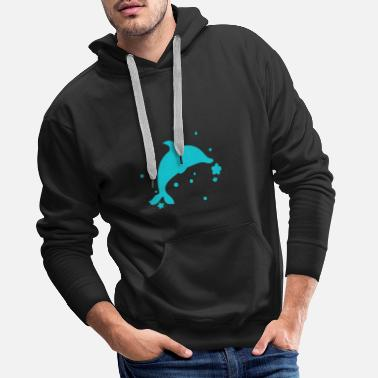 Swimming Style Dolphin - Dolphin - Men's Premium Hoodie