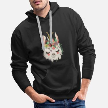 Jewelry Alpaca with jewelry - Men's Premium Hoodie