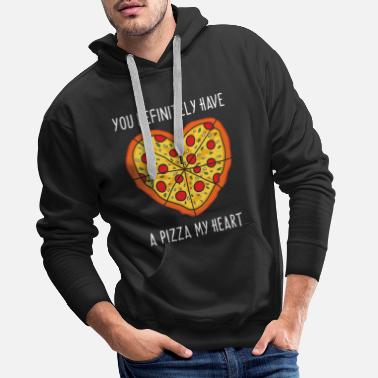 Be My Valentine You Definitely Have A Pizza My Heart T-Shirt Gift  - Men's Premium Hoodie