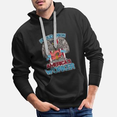 Not Perfect America's Worker Union Worker Proud Union - Men's Premium Hoodie