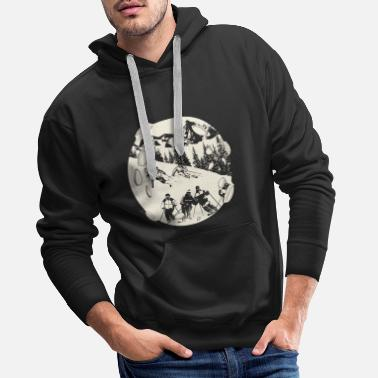 Sports Ski skiing skier - Men's Premium Hoodie