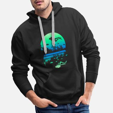 Dive Diver diving deep sea snorkeling - Men's Premium Hoodie