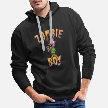 Trick Or Treat Zombie Boy - Men's Premium Hoodie