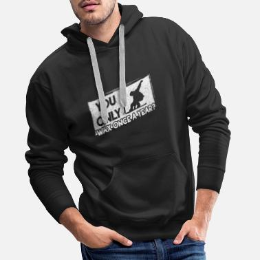 Skiing Snowboard winter sports gift I apres ski - Men's Premium Hoodie