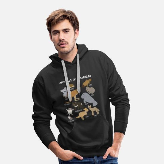 Platypus Hoodies & Sweatshirts - Animals of Australia, Australian Animal Lover, - Men's Premium Hoodie black