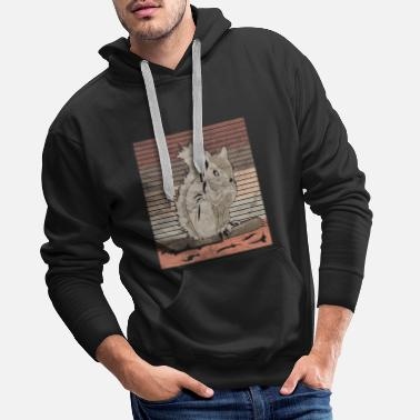 Chipmunk Retro Old School Chipmunk - Men's Premium Hoodie