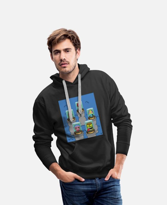 Doodle Hoodies & Sweatshirts - collection - Men's Premium Hoodie black