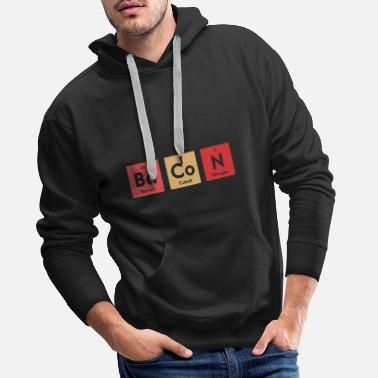 Banana Chemistry Periodic Table Bacon Chemist Elements - Men's Premium Hoodie