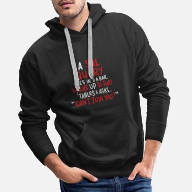 Source A SQL Query Goes Into A Bar database developer - Men's Premium Hoodie