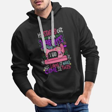 Machine Started Out As A Harmless Hobby Sewing Quilting - Men's Premium Hoodie