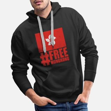 Free Hongkong Protest against China Tshirt - Männer Premium Hoodie