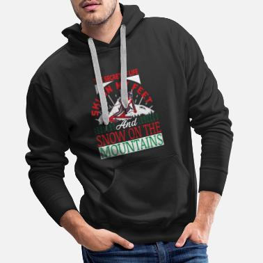 Jumps Ski saying - Men's Premium Hoodie