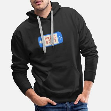 Start Appuyez sur start - Sweat à capuche premium Homme