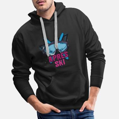 Apres ski party outfit for skiers winter sports - Men's Premium Hoodie