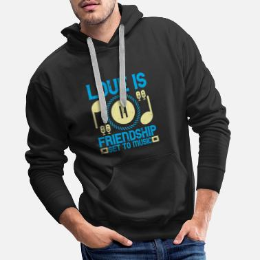 Set Music - Love is friendship set to music - Men's Premium Hoodie