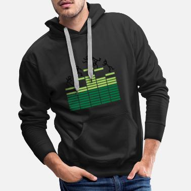 Breakbeat Dance on Equalizer - Männer Premium Hoodie