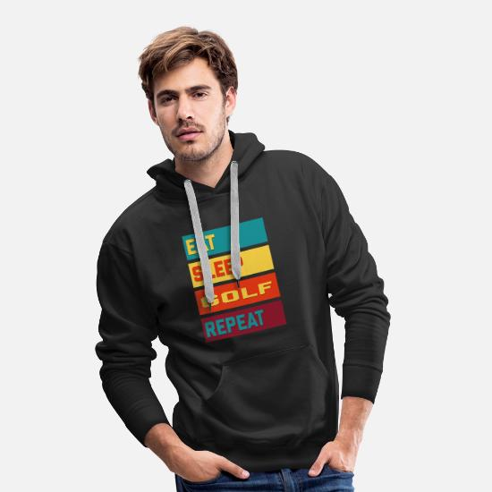 Golf Hoodies & Sweatshirts - Eat Sleep Golf Repeat Vintage Edition - Men's Premium Hoodie black