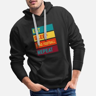 Bandera Ät Sleep Flag Football Repeat Retro Edition - Premium hoodie herr