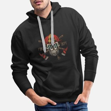 Firefighter fire dept - Men's Premium Hoodie