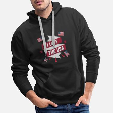 I I love the USA - Männer Premium Hoodie