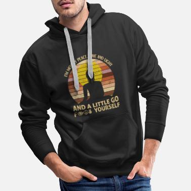 I'm Mostly Peace Love Light And A Little Go Yoga - Men's Premium Hoodie