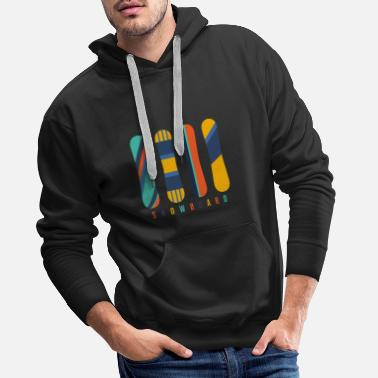 Piste De Ski Collection de snowboard - Sweat à capuche premium Homme