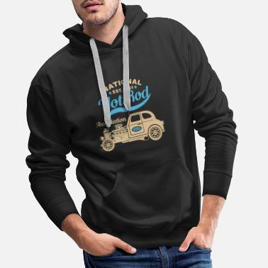 Hot Rod National Hot Rod Drag Racing - Men's Premium Hoodie