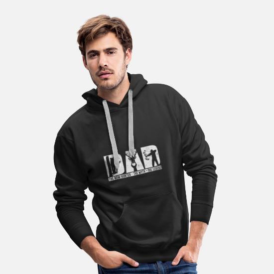 Lust Hoodies & Sweatshirts - DAD The Bow Hunter The Myth The Legend - Men's Premium Hoodie black