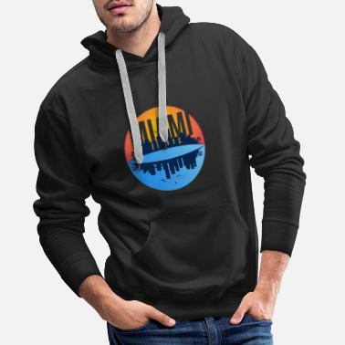 Miami Florida Skyline T Shirt - Men's Premium Hoodie