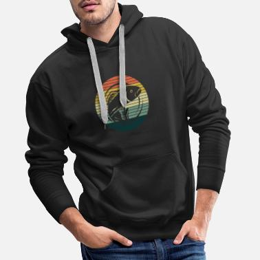 Vintage angler fishing fish eel catfish pike perch - Men's Premium Hoodie
