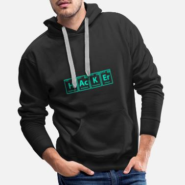 Cyber Hacker periodic table elements saying computer scientist - Men's Premium Hoodie