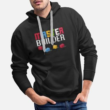 Master Gift For Block Builder Fans Master Builder Fun - Men's Premium Hoodie
