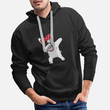 Dabbing cool pug girl ladies Christmas - Men's Premium Hoodie