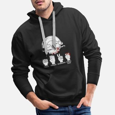 Paper Table saw carpenter and woodworker gift - Men's Premium Hoodie