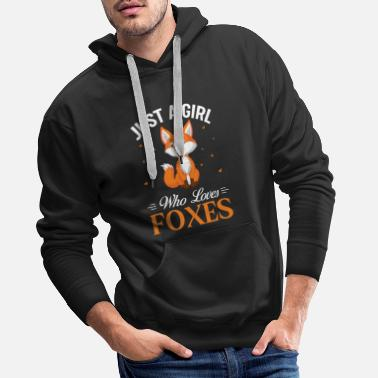 JUST A GIRL WHO LOVES FOXES - Men's Premium Hoodie