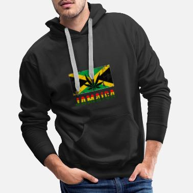 Rasta Jamaica font with flag - Men's Premium Hoodie